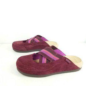 Crocs Edie Slip on Suede Shoes size 7 Purple Cross